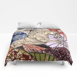 Unicorn Amongst Umbrellas XVII Comforters