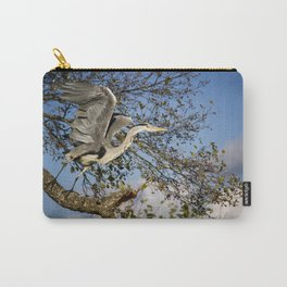 Grey Heron taking flight Carry-All Pouch