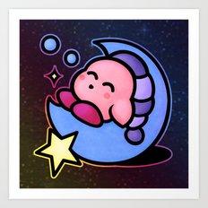 Kirby Sleep (no text) Art Print