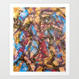 Strokes Art Print