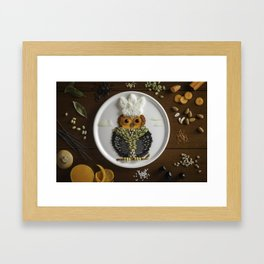 Smart Chef Owl Framed Art Print