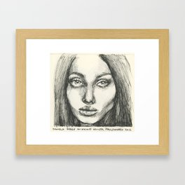 Model Face Framed Art Print
