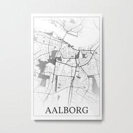 Aalborg, Denmark, city map Metal Print