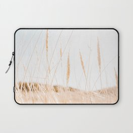 Beachgrass Photo | The Netherlands Travel Photography | Backlight In Nature Overexposed Laptop Sleeve