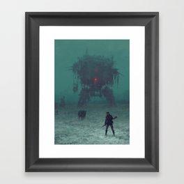 1920 - red wreck Framed Art Print