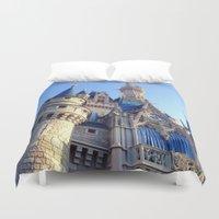 castle Duvet Covers featuring Castle by Jillian Stanton