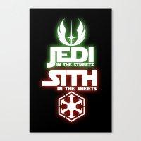 jedi Canvas Prints featuring Jedi by Liquidsugar