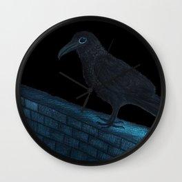 Raven Night Wall Clock