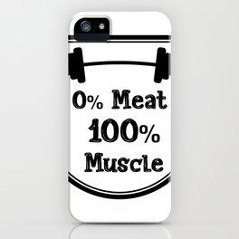 Vegetarian Vegan Muscle Workout Gifts iPhone Case