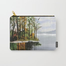 Watercolor Bear Creek Cove Carry-All Pouch