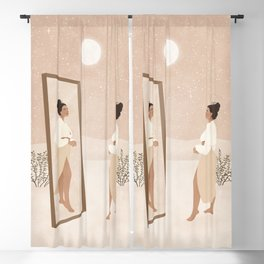 Don't give up on the person you are becoming. Blackout Curtain