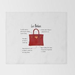 Anatomy of a Birkin Bag Throw Blanket