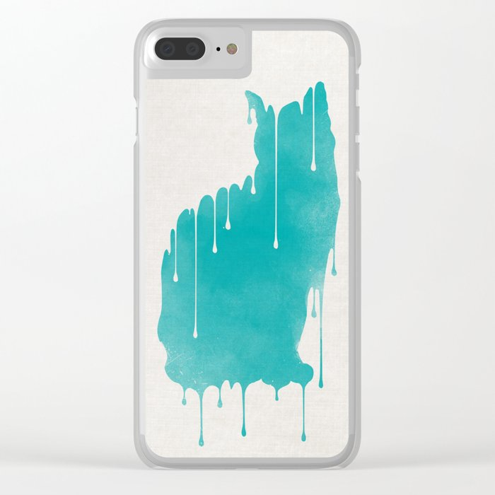 Dripping Clear iPhone Case