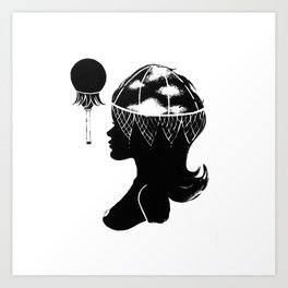 Cloudia Silhouette Art Print