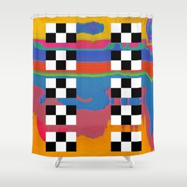 drag scan Shower Curtain