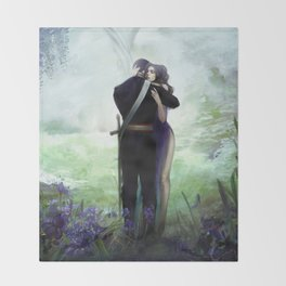 In your arms - Love embrace before departure - couple tight hug Throw Blanket