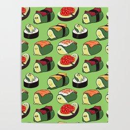 Sushi Avocado Poster