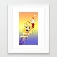 sailor venus Framed Art Prints featuring Sailor Venus by artwaste