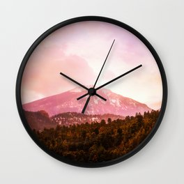 Sunrise in the Rockys Wall Clock