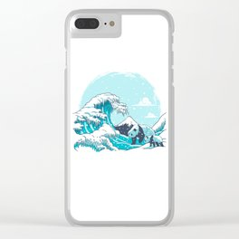 Ice Wave Clear iPhone Case
