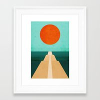 road Framed Art Prints featuring The Road Less Traveled by Picomodi