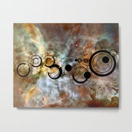 Doctor Who Allons-y Gallifrey with the Carina Nebula Metal Print