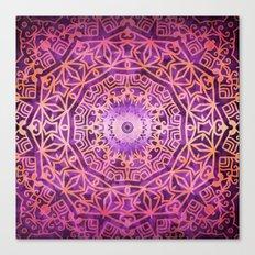 Mandala Pink Night Canvas Print