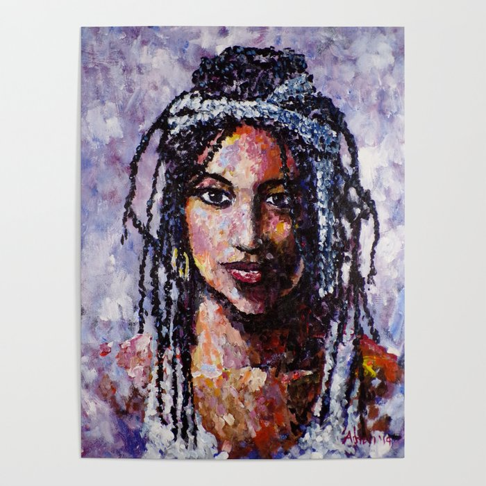 d3a8e61b Raven A Woman with Dreadlocks Poster by artistadron