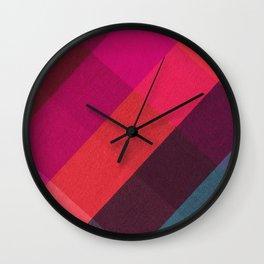 Colorful Holiday Plaid  Wall Clock
