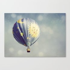 Moon and Stars Hot Air Balloon Canvas Print