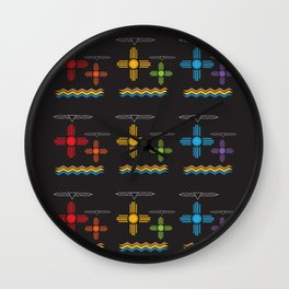 Albuquerque Night Colors Wall Clock