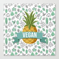 vegan Canvas Prints featuring Vegan by akaink