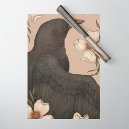 The Crow and Dogwoods Wrapping Paper