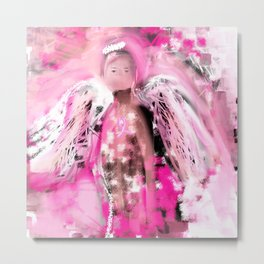 Breast Cancer Angel #2 Metal Print