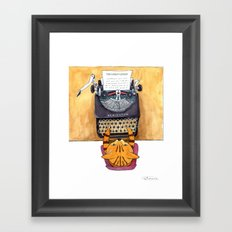The Great Catsby. Framed Art Print