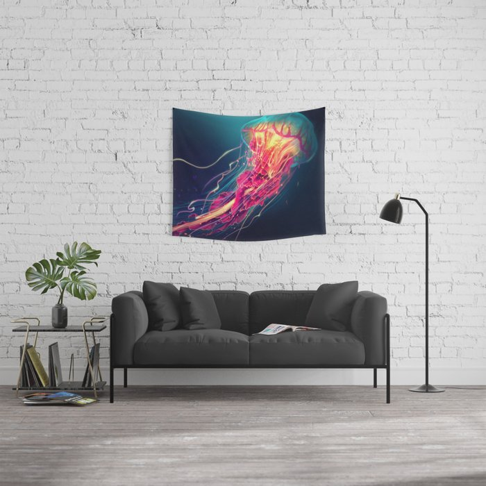 Jellyfish Wall Tapestry