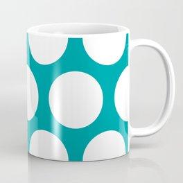 Large Polka Dots: Teal Coffee Mug