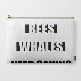 BEES AND WHALES Carry-All Pouch