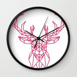 Reindeer Christmas Gift Sledge Funny Wall Clock