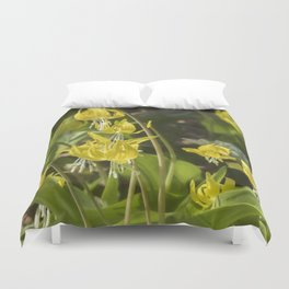 Glacier Lily Painterly Duvet Cover
