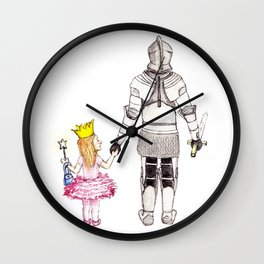 The Princess and her Knight Wall Clock