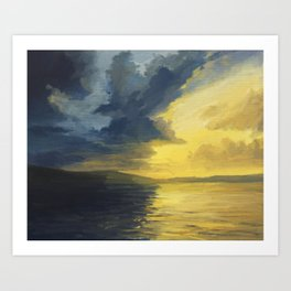 The Sunset Of Light And Shadows Art Print