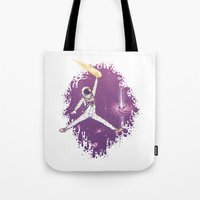 space jam Tote Bags featuring Space Jam by Made With Awesome