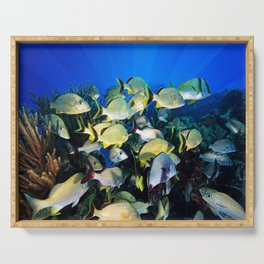 Underwater Photography by John Schwalbe Serving Tray