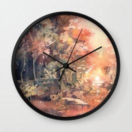 Sunset Forest Wall Clock