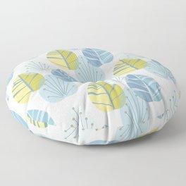 Mid-Century Modern Leaves Floor Pillow