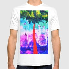 Reaching for the Stars Mens Fitted Tee White MEDIUM