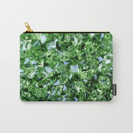 GREEN DIAMOND CLUSTER PATTERN Carry-All Pouch