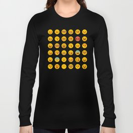 Cute Set of Emojis Long Sleeve T-shirt