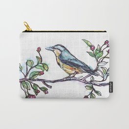 Bird on a Branch (drawn with one, continuous line) Carry-All Pouch